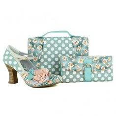 Ruby Shoo Dee Womens Court Shoes - Mint And Peach