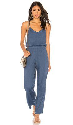 74a9b9691e98 Sleeveless Jumpsuit in Jean Blue Jumpsuit