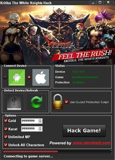 You don't know How to Hack Kritika The White Knights ? We have the answer on your question, our Kritika The White Knights Hack Tool make your lif