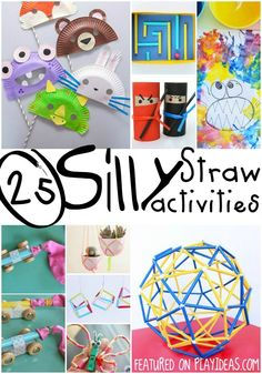 25 Silly Straw Activities from balls, to puppets and birds, straws have so many uses! Great activities for preschoolers through kindergartners!