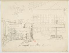 FLORENCE, Hercule - Munjolo[sic] pour piler le maïs. [Desenho do Carnet de dessins] - [1825] - Nanquim e grafite sobre papel - 19,3 x 24,7 cm - Coleção Bibliothèque Nationale de France (Paris)