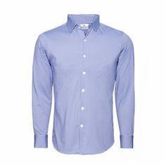 """""""Beckett"""" Blue Gingham Dress Shirt"""