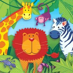 Jungle Animals Lunch Napkins