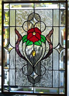 Stained Glass Window Hanging | eBay