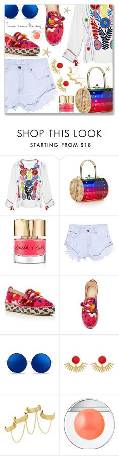 """Summer..."" by dressedbyrose ❤ liked on Polyvore featuring WAIWAI, Smith & Cult, One Teaspoon, Mochi, Matthew Williamson, Ottoman Hands, House of Harlow 1960 and Estée Lauder"