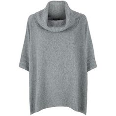 Harrods of London Cashmere Cowl Neck Poncho