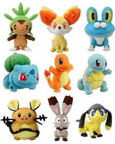 Pokemon X and Y plushies