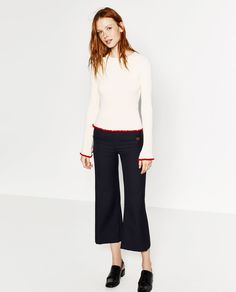 Image 1 of TRUMPET SLEEVE SWEATER from Zara