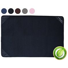 "Vivaglory 35x23"" Waterproof Washable Reusable Pets Mat,Training and Travel Pads,Post-surgery Under Pad,Food and Water Bowl Placemat,Litter Box Mat,Black ~~ You could find more details by visiting the image link. (This is an affiliate link and I receive a commission for the sales)"