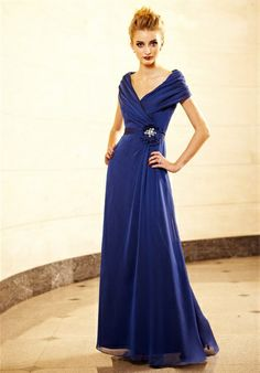 Mother of the bride gown, it is lovely but I think I'd want it to be more of a navy blue.
