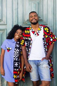 Ankara styles 698269117209702042 - Best of Ankara Styles for Couples african fashion style outfits Source by birthstatssign African Fashion Ankara, Latest African Fashion Dresses, African Print Fashion, Modern African Fashion, Couples African Outfits, African Attire, African Wear, Short African Dresses, African Print Dresses