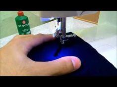 Costurando tecidos finos e malhas em máquinas de costura zig-zag - YouTube