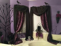 stunning gothic home decor ideas that veryone should keep home gothic decor design ideas to create unique home page 11 of 49 Purple Home Decor, Goth Home Decor, Gothic Room, Gothic House, Goth Bedroom, Bedroom Decor, Décor Violet, Gothic Bathroom Decor, Decor Scandinavian