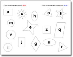 learn consonants and vowels with a bit of visual scanning