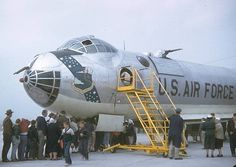 """The History - Loring Air Force Base - Loring Remembers, Loring B-36 """"Do Do Bird"""" at Westover AFB Open House 1956"""