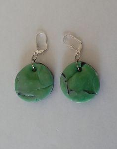 """Ohrringe  """"MALAQUITA-AZURIT""""  ein UNIKAT ein edles Steingemisch mit einem Durchmesser von 3cm, der Sicherheitsverschluss ist aus 925-Silber Hippie Style, Hippie Mode, Drop Earrings, Gifts, Jewelry, Fashion, Malachite, Green Fashion, Blue Green"""
