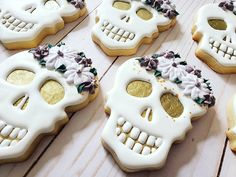 """Sugar Bee Custom Cookies on Instagram: """"If you know me, you know how much I love skulls and basically everything """"Halloween"""" themed, so of course I was THRILLED when was asked to…"""" Bachelorette Cookies, Bachelorette Party Decorations, Bachelorette Parties, Halloween Treats, Halloween Party, Halloween Decorations, Halloween Bridal Showers, Custom Cookies, Cookie Decorating"""