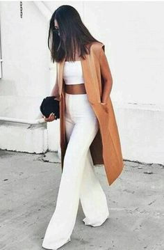 Love this longline vest look