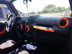 jeep interior trim in orange - Google Search