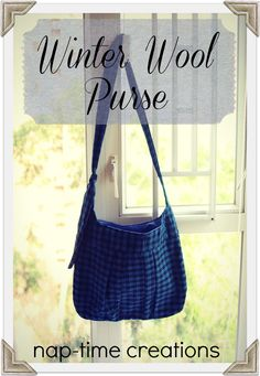 Winter Wool Purse Tutorial