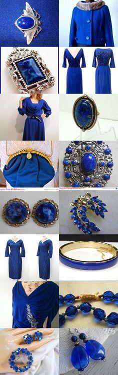 #Cobalt - #ultramarine - deep blue #teamlove #etsy #vintage