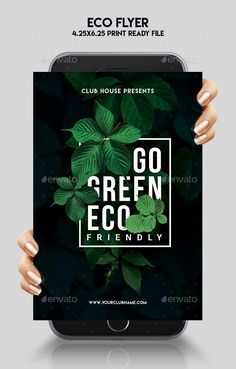 Eco #Flyer - #Events Flyers Download here: https://graphicriver.net/item/eco-flyer/19498051?ref=alena994