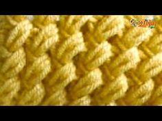 Cómo Tejer Punto ALMENDRAS - Knitting Stitch - 2 agujas (518) - YouTube Crochet Stitches Patterns, Knitting Stitches, Knitting Designs, Stitch Patterns, Knitting Patterns, Crochet Crafts, Crochet Projects, Knit Crochet, Crochet Tablecloth