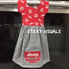 Jeep Grill Logo Kitchen Oven Door Towel Pick Color Embroidered