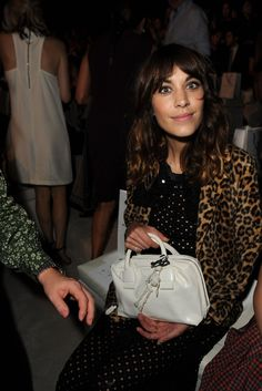 Alexa Chung Front Row at Marc Jacobs