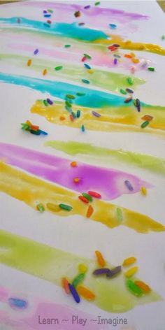 Frosting paint recipe - art for kids - It's simple to make and dries glossy and gorgeous!