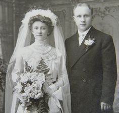 Wedding Photo Early 1900s Bride Pleated by queenofcollectibles, $9.99