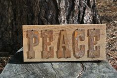 PEACE - Reclaimed Wood Sign