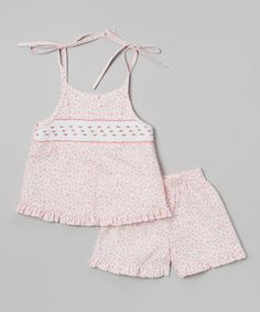 Love this Pink Floral Tank & Shorts - Infant, Toddler & Girls by Vive La Fête on #zulily! #zulilyfinds
