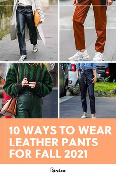 Hoping to hop on the leather pants craze? Here are ten stylish outfits to copy ASAP, plus one that's best avoided for now. #leather #pants Suede Pants, Leather Pants, Holiday Outfits, Fall Outfits, Stylish Outfits, Cute Outfits, Tight Tank Top, Grey Turtleneck, Vintage Tees