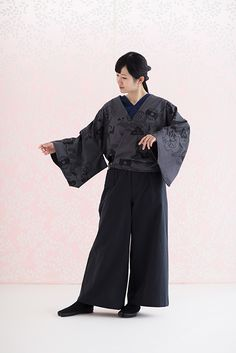 Kairi Wrap Kimono Tops Fuuga Cotton : SOU • SOU US Online Store Mesh Laundry Bags, V Neck Tops, Printed Cotton, Kimono Top, Normcore, Sleeves, Model, How To Wear, Clothes