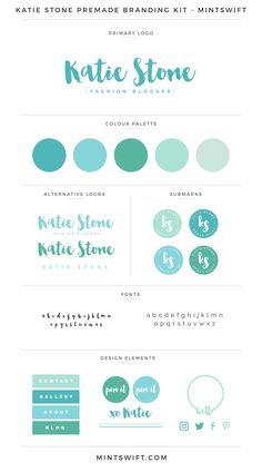 Katie Stone Premade Branding Kit - MintSwift