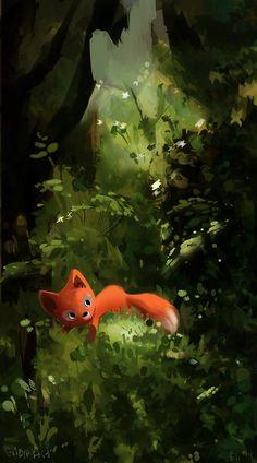 The Red Fox ~ Elioli Art