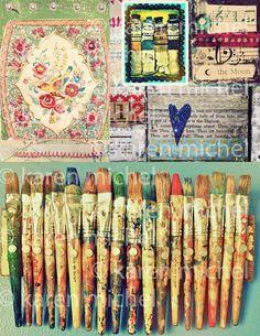 Art Journal Digital Collage Sheet