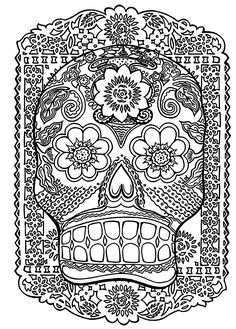 To print this free coloring page «coloring-skull-head-antistress», click on the printer icon at the right