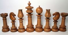 Antique Chess Set Chess Strategies, Chess Players, Chess Pieces, Wood Lathe, Wood Turning, Board Games, Chess Sets, Projects To Try, Woodworking