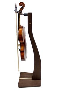 Zither Wood Violin/Viola Stand, Walnut