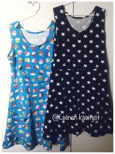 Handmade tunics by LeenaH; pattern from old tunic Tunics, Sewing Projects, Blouse, Pattern, Handmade, Tops, Women, Fashion, Moda