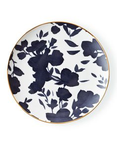 Audrey Salad Plate, Navy/Gold
