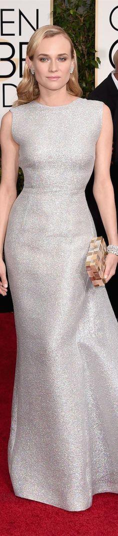 Diane Kruger in Emilia Wickstead LOOKandLOVEwithLOLO: 2015 Golden Globe Red Carpet