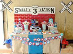 Celebrate with Cake!: Thomas the Tank Dessert Table