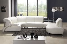comporary leather sofa sectional