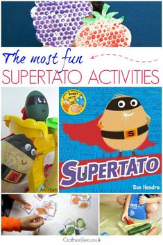 The most fun Supertato activities for kids - Teaching maths, colours, going on a pea hunt, a Supertato activity pack and sensory play ideas. Oh, and making a Supertato too! These Supertato activities for kids are the most fun around with ideas that they'll love as well as Supertato printables and educational activities that you'll want to share. #eyfs #kidsactivities #preschool #kidscraft