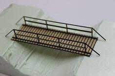 Świat modeli KOTEBI wycinanie laserem Most drewniany (kładka) skala 1:72