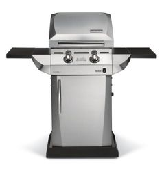 Char-Broil TRU Infrared Urban Gas Grill with Folding Side Shelves by Char-Broil. $245.99. Award winning TRU Infrared cooking system that provides seared in flavor, while keeping food moist and juicy. 320 Square Inch of infrared grilling area which sears in flavor and keeps food moist and juicy and 125 Square Inch secondary cooking area. Stainless Steel lid and control panel, heavy duty folding side shelves, and enclosed cart with stainless steel door. Compact size...