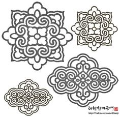 traditional korean geometrical patterns Pattern Art, Pattern Design, Korean New Year, Korean Crafts, Korean Tattoos, Korean Design, Chinese Patterns, Thai Art, Korean Art